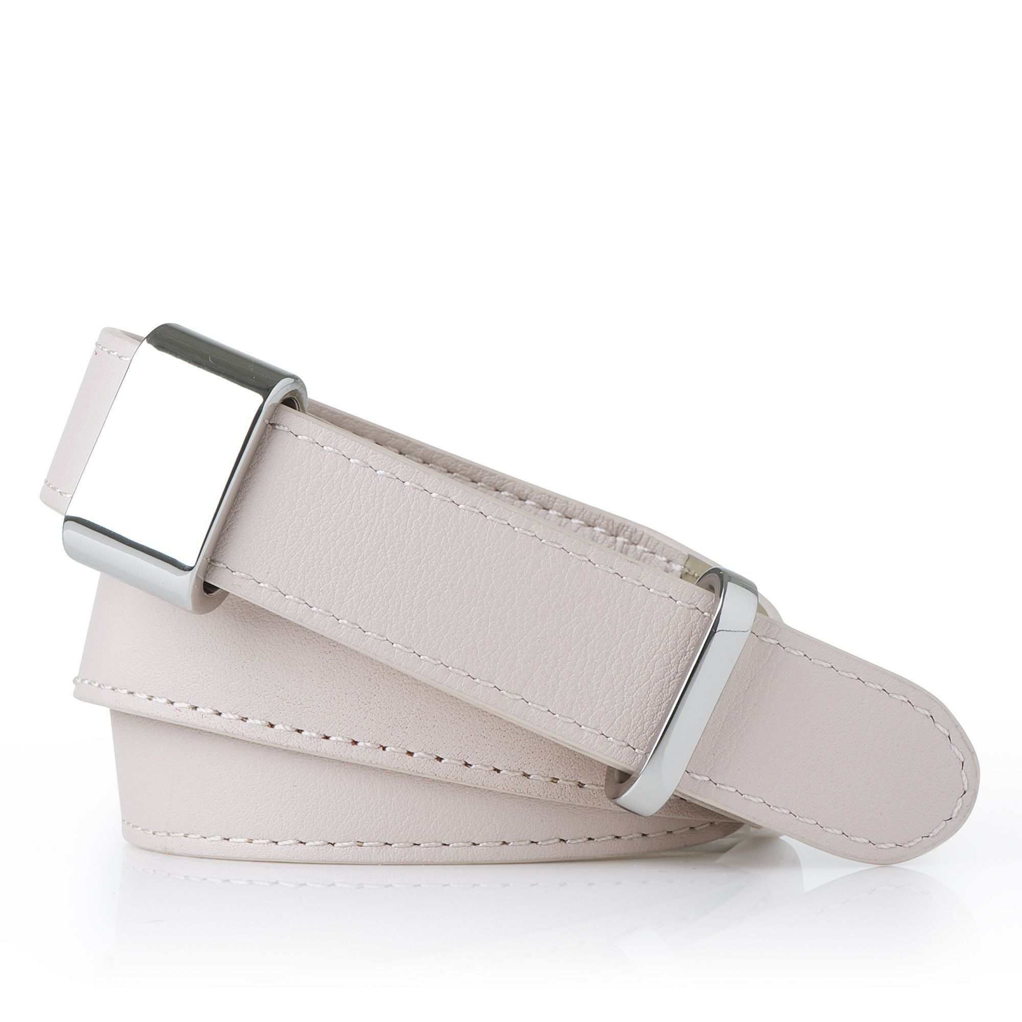Anna Hardware Belt, Pink - predominant colour: blush; style: classic; size: standard; worn on: hips; material: leather; pattern: plain