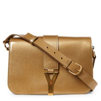 Chyc Mini AcrossBody Bag - predominant colour: tan; style: shoulder; length: across body/long; size: small; material: patent; pattern: plain; finish: patent