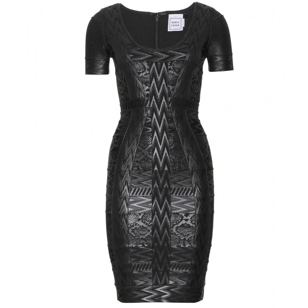 Zuzanna Coated Bandage Dress - length: mid thigh; pattern: heavily patterned, patterned/print; style: bodycon; predominant colour: black; occasions: evening; fit: body skimming; neckline: scoop; fibres: polyester/polyamide - stretch; material texture: sateen; sleeve length: short sleeve; sleeve style: standard; texture group: structured shiny - satin/tafetta/silk etc.; pattern type: fabric; pattern size: big & busy