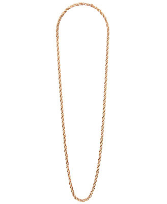 Twisted Chain Necklace - predominant colour: gold; style: standard; length: long; size: standard; material: chain/metal