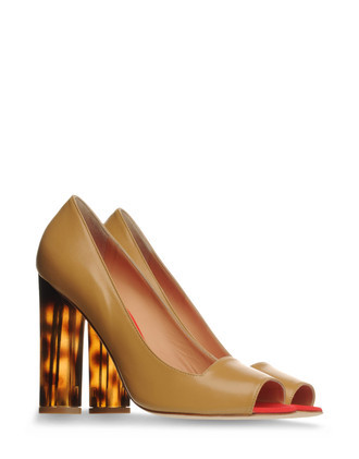 Pumps Heels Open Toe On Shoescrib - predominant colour: camel; material: leather; heel height: high; embellishment: animal print, print; heel: block; toe: open toe/peeptoe; style: courts; pattern: animal print, patterned/print