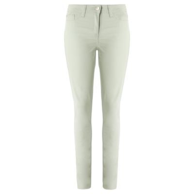 Coloured Skinny Jeans Pastel Green - style: skinny leg; pattern: plain; pocket detail: traditional 5 pocket; waist: mid/regular rise; predominant colour: pistachio; occasions: casual; length: ankle length; fibres: cotton - stretch; material texture: denim; trends: pastels; texture group: denim; pattern type: fabric; pattern size: standard