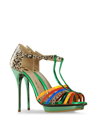 Sandals  Clogs Sandals On Shoescr - predominant colour: multicoloured; material: leather; heel height: high; embellishment: animal print, print; ankle detail: ankle strap; heel: platform; toe: open toe/peeptoe; style: strappy; pattern: animal print, patterned/print