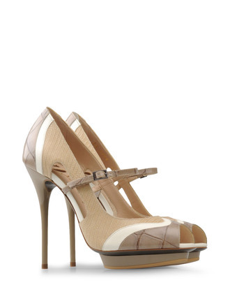 Pumps  Heels Pumps On Shoescribe. - predominant colour: tan; material: leather; heel height: high; embellishment: animal print; ankle detail: ankle strap; heel: stiletto; toe: open toe/peeptoe; style: courts; pattern: animal print