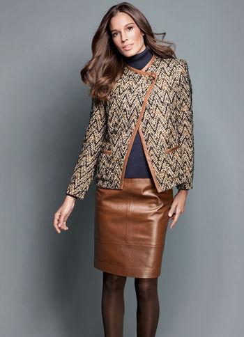 Elegance: Leather Skirt (in tan)