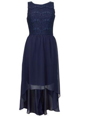 Navy Blue Lace Dress on Blue Eyelash Lace 2in1 Dip Hem Dress   Pattern  Plain  Lace  Sleeve