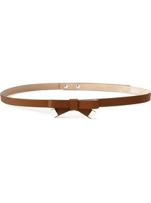 Bentley Belt, Tan - predominant colour: tan; occasions: casual, evening, work, occasion; type of pattern: standard; style: classic; size: skinny; worn on: waist; material: leather; pattern: plain; finish: plain; embellishment: bow