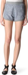 French Terry Shorts - pattern: plain; style: shorts; waist detail: elasticated waist; length: short shorts; waist: mid/regular rise; predominant colour: light grey; occasions: casual, holiday; fibres: cotton - 100%; fit: slim leg; pattern type: fabric; pattern size: small &amp; light; texture group: jersey - stretchy/drapey