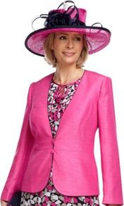 Fucshia Shimmer Shantung Jacket - pattern: plain; style: single breasted blazer; collar: standard lapel/rever collar; hip detail: fitted at hip; predominant colour: hot pink; occasions: casual, evening, work, occasion; length: standard; fit: tailored/fitted; fibres: polyester/polyamide - 100%; waist detail: fitted waist; sleeve length: long sleeve; sleeve style: standard; texture group: structured shiny - satin/tafetta/silk etc.; trends: fluorescent; collar break: low/open; pattern type: fabric; pattern size: standard