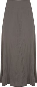 Khaki Maxi Skirt - pattern: plain; length: ankle length; fit: loose/voluminous; waist detail: fitted waist; waist: high rise; predominant colour: khaki; occasions: casual, holiday; style: maxi skirt; fibres: polyester/polyamide - mix; hip detail: soft pleats at hip/draping at hip/flared at hip; pattern type: fabric; texture group: jersey - stretchy/drapey