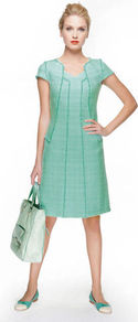 Shopper - predominant colour: pistachio; occasions: casual, work; type of pattern: standard; style: tote; length: handle; size: standard; material: leather; finish: plain; pattern: colourblock