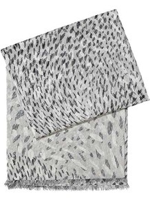 Adelaide Dapple Print Scarf - predominant colour: light grey; occasions: casual, evening, work, occasion, holiday; type of pattern: standard; style: regular; size: standard; material: fabric; pattern: patterned/print