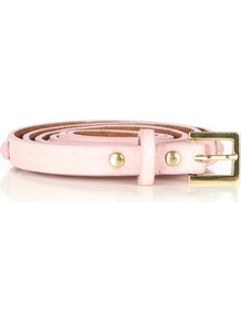 Pyramid Stud Jeans Belt - predominant colour: blush; occasions: casual, evening, work, occasion, holiday; type of pattern: standard; style: classic; size: skinny; worn on: waist; material: leather; pattern: plain; trends: fluorescent; finish: plain