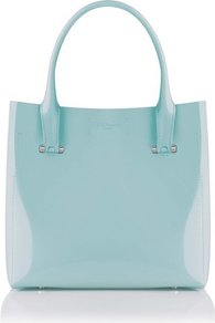 Chloe Patent Leather Tote Bag Blue Sky - predominant colour: pale blue; occasions: casual, work; type of pattern: standard; style: tote; length: handle; size: standard; material: leather; pattern: plain; finish: patent
