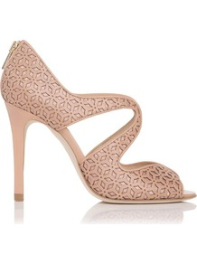 Malibu Leather Open Toe Sandal Pink Blush - predominant colour: blush; occasions: evening, occasion, holiday; material: leather; heel height: high; embellishment: zips; heel: stiletto; toe: open toe/peeptoe; style: strappy; finish: plain; pattern: plain