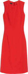 Layra Stretch Crepe Dress - style: shift; neckline: round neck; pattern: plain; sleeve style: sleeveless; waist detail: fitted waist; predominant colour: true red; occasions: evening, work, occasion; length: on the knee; fit: soft a-line; fibres: polyester/polyamide - stretch; hip detail: sculpting darts/pleats/seams at hip; sleeve length: sleeveless; texture group: crepes; trends: glamorous day shifts; pattern type: fabric