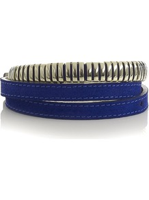 Mini Stud Belt - predominant colour: royal blue; occasions: casual, evening, work; type of pattern: standard; style: classic; size: skinny; worn on: waist; material: leather; pattern: plain; finish: plain; embellishment: chain/metal