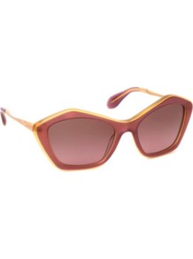 Mu020 S Cats Eye Sunglasses - predominant colour: purple; occasions: casual, work, holiday; style: cateye; size: standard; material: plastic/rubber; pattern: two-tone; finish: plain