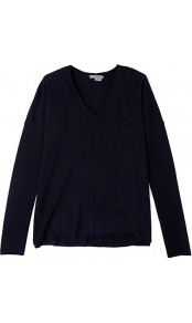 Navy Cashmere V Neck Long Sleeve Jumper - neckline: v-neck; pattern: plain; style: standard; predominant colour: navy; occasions: casual, work; length: standard; fit: slim fit; fibres: cashmere - 100%; sleeve length: long sleeve; sleeve style: standard; texture group: knits/crochet; pattern type: knitted - fine stitch; pattern size: standard