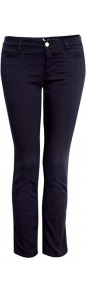 Midnight Blue Paris Mid Rise Cropped Slim Leg Jean Mih - pattern: plain; pocket detail: traditional 5 pocket; style: slim leg; waist: mid/regular rise; predominant colour: navy; occasions: casual, evening, work; length: ankle length; fibres: cotton - mix; jeans detail: dark wash; texture group: denim; pattern type: fabric; pattern size: standard