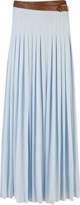 Ted Baker Galva Pleated Maxi Skirt - pattern: plain; fit: loose/voluminous; style: pleated; waist detail: belted waist/tie at waist/drawstring; waist: mid/regular rise; predominant colour: pale blue; occasions: casual, evening, work, occasion, holiday; length: floor length; fibres: polyester/polyamide - 100%; hip detail: structured pleats at hip; texture group: sheer fabrics/chiffon/organza etc.; trends: volume; pattern type: fabric