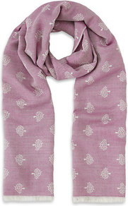 Tamara Scarf - predominant colour: pink; occasions: casual, evening, work; type of pattern: light; style: regular; size: standard; material: fabric; pattern: patterned/print