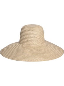 Lori Straw Sunhat - predominant colour: stone; occasions: casual, holiday; type of pattern: small; style: wide brimmed; size: large; material: macrame/raffia/straw; pattern: plain