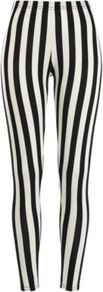 Tall Black And White Stripe Leggings - length: standard; pattern: vertical stripes; style: leggings; waist detail: elasticated waist; waist: mid/regular rise; occasions: casual, evening; fibres: polyester/polyamide - stretch; texture group: jersey - clingy; predominant colour: monochrome; fit: skinny/tight leg; pattern type: fabric; pattern size: standard