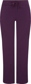 Purple Leisure Jogging Trousers - length: standard; pattern: plain; style: tracksuit pants; waist detail: belted waist/tie at waist/drawstring; waist: mid/regular rise; predominant colour: purple; occasions: casual; fibres: cotton - stretch; fit: straight leg; pattern type: fabric; pattern size: big &amp; busy; texture group: jersey - stretchy/drapey