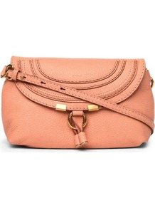 Marcie Pouch - predominant colour: pink; occasions: casual; type of pattern: standard; style: shoulder; length: across body/long; size: small; material: leather; pattern: plain; finish: plain