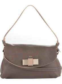 Lily Pouch Bag - predominant colour: taupe; occasions: casual, evening, work; style: shoulder; length: shoulder (tucks under arm); size: small; material: leather; pattern: plain; finish: plain