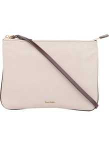 Hove Cross Body Pouch Bag - predominant colour: blush; occasions: casual, evening, occasion; type of pattern: light; style: pouch bag; length: across body/long; size: small; material: leather; pattern: plain; finish: plain