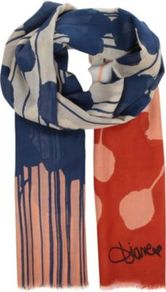 Hanovar Printed Scarf - predominant colour: navy; secondary colour: navy; occasions: casual, work; type of pattern: heavy; style: regular; size: standard; material: fabric; pattern: patterned/print