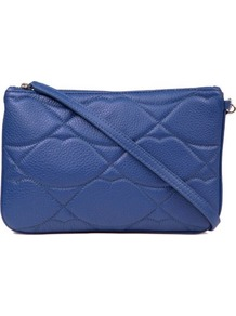 Audra Leather Clutch - predominant colour: royal blue; occasions: casual, evening, occasion; type of pattern: standard; style: clutch; length: hand carry; size: small; material: leather; embellishment: quilted; pattern: plain; finish: plain