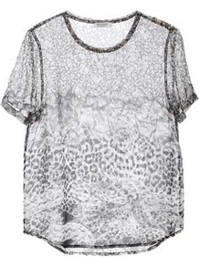 Riley Tee In Snake Black - neckline: round neck; length: below the bottom; style: t-shirt; occasions: casual; fibres: silk - 100%; fit: loose; sleeve length: short sleeve; sleeve style: standard; texture group: sheer fabrics/chiffon/organza etc.; predominant colour: monochrome; pattern type: fabric; pattern size: standard; pattern: animal print