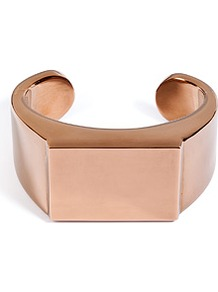Brass Angular Bangle - predominant colour: gold; occasions: casual, evening, work, occasion; style: bangle; size: large/oversized; material: chain/metal; finish: metallic; embellishment: chain/metal