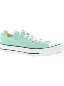 All Star Seasonal Mint Ox Trainers - predominant colour: pistachio; occasions: casual; material: fabric; heel height: flat; toe: round toe; style: trainers; finish: plain; pattern: plain
