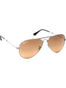 Rb3479 Folding Aviator Sunglasses - predominant colour: camel; secondary colour: mid grey; occasions: casual, holiday; style: aviator; size: standard; material: chain/metal; pattern: plain; finish: plain