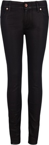 Ted Baker Esstie Skinny Jeans - style: skinny leg; length: standard; pattern: plain; pocket detail: traditional 5 pocket; waist: mid/regular rise; predominant colour: black; occasions: casual; fibres: cotton - stretch; jeans detail: dark wash; texture group: denim; pattern type: fabric