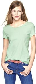 Essential Short Sleeve Crew T - neckline: round neck; pattern: plain; style: t-shirt; predominant colour: pistachio; occasions: casual; length: standard; fibres: cotton - 100%; fit: body skimming; sleeve length: short sleeve; sleeve style: standard; pattern type: fabric; texture group: jersey - stretchy/drapey