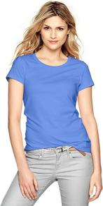 Essential Short Sleeve Crew T - neckline: round neck; pattern: plain; style: t-shirt; predominant colour: denim; occasions: casual; length: standard; fibres: cotton - 100%; fit: body skimming; sleeve length: short sleeve; sleeve style: standard; pattern type: fabric; texture group: jersey - stretchy/drapey