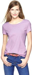 Essential Short Sleeve Crew T - neckline: round neck; pattern: plain; style: t-shirt; predominant colour: lilac; occasions: casual; length: standard; fibres: cotton - 100%; fit: loose; sleeve length: short sleeve; sleeve style: standard; pattern type: fabric; texture group: jersey - stretchy/drapey