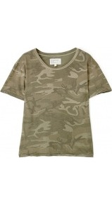 Army Camouflage Freshman T Shirt Current Elliot - neckline: round neck; style: t-shirt; predominant colour: khaki; occasions: casual; length: standard; fibres: cotton - 100%; fit: body skimming; sleeve length: short sleeve; sleeve style: standard; texture group: jersey - clingy; pattern type: fabric; pattern size: big &amp; busy; pattern: patterned/print
