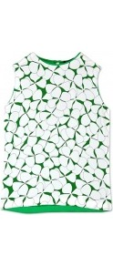 Petal Print Silk Shell Top - sleeve style: sleeveless; predominant colour: emerald green; occasions: casual; length: standard; style: top; fibres: silk - 100%; fit: body skimming; neckline: crew; texture group: crepes; pattern type: fabric; pattern size: standard; pattern: florals