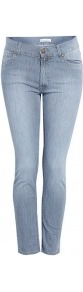 Donut Self Stripe Rolled Denim Jeans - style: skinny leg; length: standard; pattern: plain; pocket detail: traditional 5 pocket; waist: mid/regular rise; predominant colour: denim; occasions: casual, evening, work; fibres: cotton - stretch; jeans detail: washed/faded; texture group: denim; pattern type: fabric; pattern size: standard