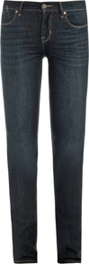 Lou Essex Mid Rise Skinny Jeans - style: skinny leg; length: standard; pattern: plain; pocket detail: traditional 5 pocket; waist: mid/regular rise; predominant colour: navy; occasions: casual; fibres: cotton - mix; jeans detail: whiskering, shading down centre of thigh; texture group: denim; pattern type: fabric