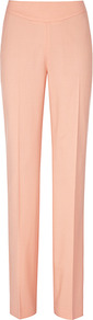 Lily Tor Seamed Straight Leg Pant - length: standard; pattern: plain; waist detail: wide waistband/cummerbund; waist: mid/regular rise; predominant colour: coral; occasions: casual, evening, work; fibres: wool - mix; texture group: crepes; trends: fluorescent; fit: straight leg; pattern type: fabric; pattern size: standard; style: standard