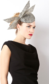 Buntal Teardrop Hat - occasions: occasion; type of pattern: standard; style: fascinator; size: standard; material: macrame/raffia/straw; embellishment: bow; predominant colour: monochrome; pattern: patterned/print