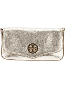 Classic Clutch - predominant colour: gold; occasions: evening, occasion; type of pattern: standard; style: shoulder; length: shoulder (tucks under arm); size: small; material: leather; pattern: plain; trends: metallics; finish: metallic; embellishment: chain/metal