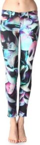 620 Super Skinny Hydrangea Printed Jeans - style: skinny leg; waist: low rise; pocket detail: traditional 5 pocket; occasions: casual, evening; length: ankle length; fibres: cotton - stretch; predominant colour: multicoloured; texture group: denim; trends: high impact florals, modern geometrics; pattern type: fabric; pattern size: big &amp; busy; pattern: florals